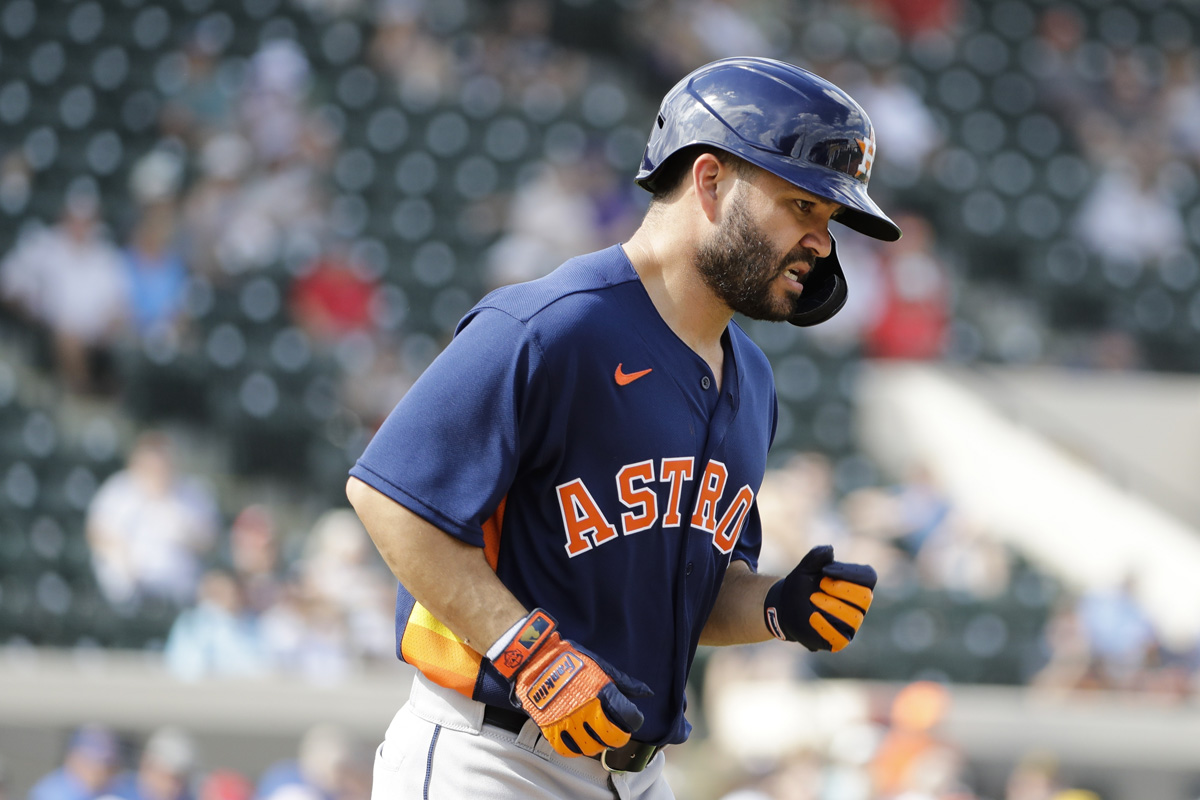 Jose Altuve Gets Hit By Pitch During Spring Game vs. Tigers